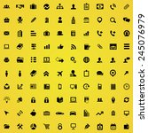 100 company icons  black on... | Shutterstock .eps vector #245076979