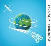 air travel around the world...   Shutterstock .eps vector #245077435