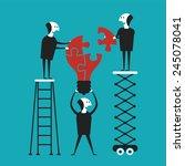 creative teamwork vector... | Shutterstock .eps vector #245078041