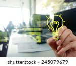 hand drawing creative business... | Shutterstock . vector #245079679