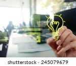 hand drawing creative business...   Shutterstock . vector #245079679