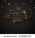 valentines day background for... | Shutterstock .eps vector #245081431