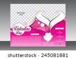 valentine day flyer template... | Shutterstock .eps vector #245081881