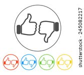 thumb up icon  flat design....   Shutterstock .eps vector #245082217