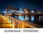 Newark  Nj Cityscape By Night ...