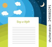 Day And Night Illustration Wit...