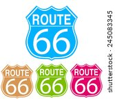 four colors of route 66 sign | Shutterstock . vector #245083345