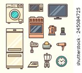 home appliances. vector... | Shutterstock .eps vector #245084725
