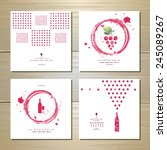 art wine cards and labels design | Shutterstock .eps vector #245089267