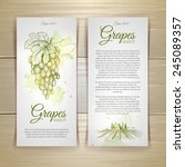 set of wine labels. grapes... | Shutterstock .eps vector #245089357