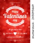 happy valentines day party... | Shutterstock .eps vector #245095669