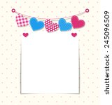paper frame with stitched... | Shutterstock .eps vector #245096509