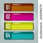 colorful modern text box... | Shutterstock .eps vector #245098279