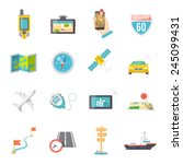 navigation direction and... | Shutterstock .eps vector #245099431
