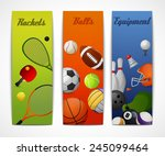 outdoor sport activities squash ... | Shutterstock .eps vector #245099464