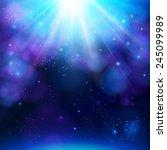 sparkling blue festive star... | Shutterstock .eps vector #245099989