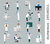 scientists characters set with... | Shutterstock .eps vector #245100211