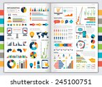 flat paper infographic set with ... | Shutterstock .eps vector #245100751