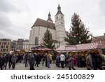 regensburg   dec 21  crowds of... | Shutterstock . vector #245100829