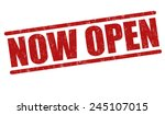 now open grunge rubber stamp on ...   Shutterstock .eps vector #245107015
