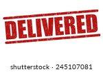 delivered grunge rubber stamp... | Shutterstock .eps vector #245107081