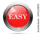 easy icon. internet button on... | Shutterstock .eps vector #245110891