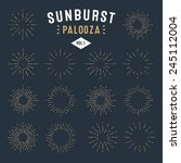 'sunburst palooza' set of retro ... | Shutterstock .eps vector #245112004