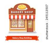 bakery shop building facade... | Shutterstock .eps vector #245113507