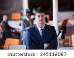 happy young business man... | Shutterstock . vector #245116087