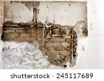 Damaged Wall Plumbing In A...