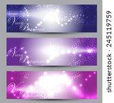 vector light banners   Shutterstock .eps vector #245119759