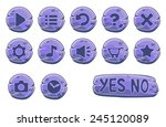 set of stone round buttons ...
