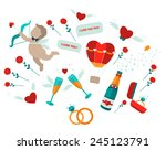 set of happy i love you | Shutterstock .eps vector #245123791