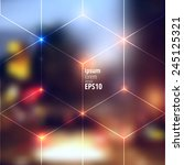 blur lights city background... | Shutterstock .eps vector #245125321