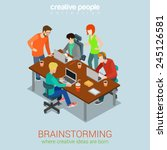 brainstorming creative people... | Shutterstock .eps vector #245126581
