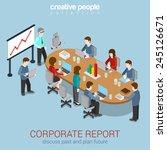 office meeting room report... | Shutterstock .eps vector #245126671