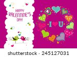 template valentine greeting... | Shutterstock .eps vector #245127031