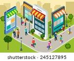 flat 3d web isometric e... | Shutterstock .eps vector #245127895