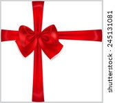 beautiful red bow with... | Shutterstock .eps vector #245131081