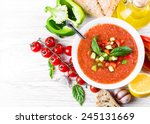tomato gazpacho soup with... | Shutterstock . vector #245131669