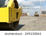road roller vibration machine...   Shutterstock . vector #245133061