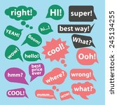 speech  chat  bubble icons ... | Shutterstock .eps vector #245134255