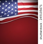 american flag on red background | Shutterstock . vector #245135671