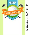 poster golf tournament with a...   Shutterstock .eps vector #245136199