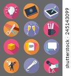modern flat icons vector...   Shutterstock .eps vector #245143099