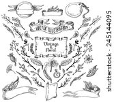 vector set of handsketched... | Shutterstock .eps vector #245144095