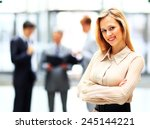 portrait of a young confident... | Shutterstock . vector #245144221