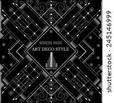 art deco geometric pattern... | Shutterstock .eps vector #245146999