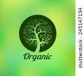 organic green tree logo  eco... | Shutterstock .eps vector #245147134
