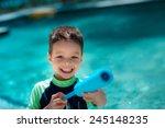 cute mixed race asian caucasian ...   Shutterstock . vector #245148235